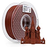 AMOLEN Stampante 3D Filamento PLA 1.75mm, Mattone Rosso 1KG,+/- 0.03mm Materiali Filamenti per Stampanti 3D, include Campione Cemento Grigio Filamento.