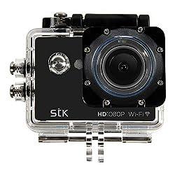 STK Explorer WiFi 1080P HD Waterproof Action Camera Kit - Black