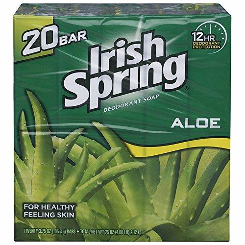 Irish Spring Aloe Deodorant Soap 20 x 106.3g Bars