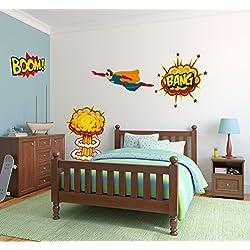 Pack Decoración Superhéroe para Dormitorio Infantil | Vinilos de Alta Calidad | Decoración Original