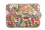 AreTop® Housse Sacoche pour iPad Tablet Ordinateur Portable Plusieurs Patterns et Tailles (15.6 pouces, Blanc Coleus)