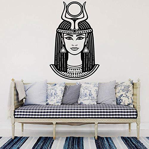 nkfrjz Kaiserin Nofretete Cleopatra Wandtattoo Ägyptische Königin Vinyl Wandaufkleber Antike Ägypten Schöne Frau Aufkleber Wandbild 57X89 cm
