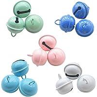 TOAOB 15 Stück 5 Farben Glöckchen Schellen Glocken Metallglöckchen 22mm Durchmesser