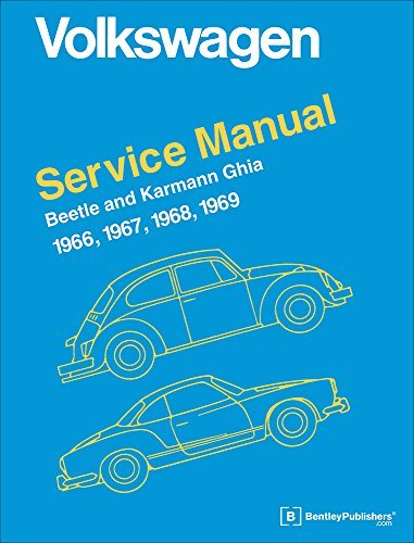 Volkswagen Beetle and Karmann Ghia Service Manual, Type 1: 1966, 1967, 1968, 1969 by Inc. Volkswagen of America (1965-06-01)