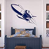 caowenhao Wand Vinyl Applique Space Shuttle Star und Planet Home Innendekoration Tapetenrolle Wand...