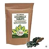 Organische Chlorella Tabletten 1000 x 500mg, kaputte Zellwand, reich an Vegane Proteine, Magnesium, Ballaststoffe, Eisen und Chlorophyll. Senkt Blutzucker und Cholesterin (500g)