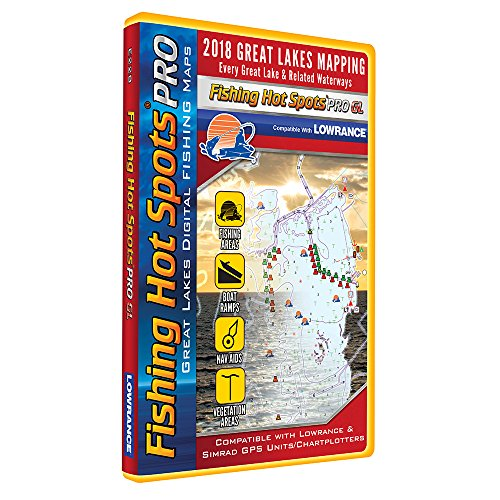 Fishing Hot Spots PRO GL - 2018 Digital Map & Fishing Chip f/Lowrance & Simrad Units - Great Lakes (Lowrance-fishing-maps)