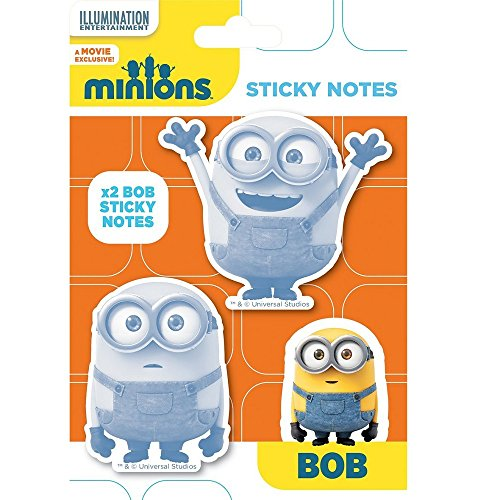 Universal® Minions Sticky Notes Stick-It Note Minion Official Kids Children School Home Office Notebook Writing Pad Stationery Accessories (ONE PACK)