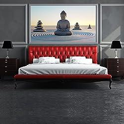 azutura Buddha-Figur Fototapete Religion Tapete Schlafzimmer Haus Dekor Erhältlich in 8 Größen XXX-Groß Digital