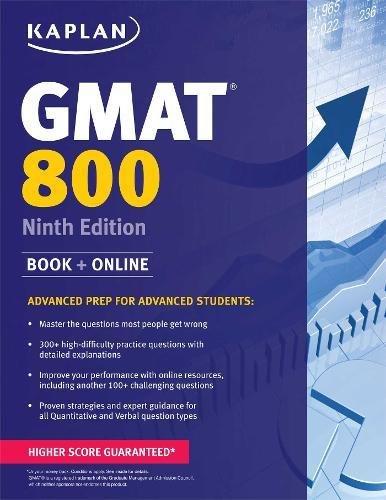 Kaplan GMAT 800: Advanced Prep for...