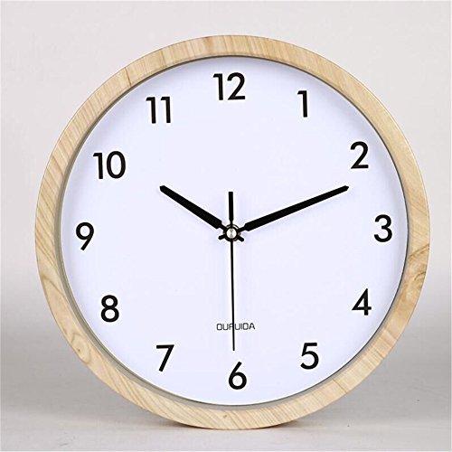 Komo Geräuscharm Modernes Ziffernblatt Kein nerviges Ticken Küchenuhr Luxus Minimalistisch Digitale Wanduhr Wohnzimmer Silent Clock Leistung im Namen der Quarzuhr 12 Zoll, E/12