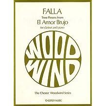 Chester Music de falla M.–2pieces from El Amor Brujo–Clarinete y Piano de música clásica para clarinete