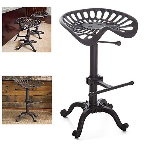Sgabello da bar fattoria industriale Sgabello da trattore ghisa altezza regolabile sedile girevole sedia da bar per la colazione