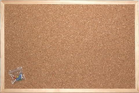 Pinnwand aus Kork 40 x 60 cm mit Naturholzrahmen und MDF Rückwand