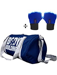 5 O' CLOCK SPORTS Gym Bag Combo Set Enclosed With Body Building Polyster Duffle Gym Bag For Men And Women For... - B079YF6LLJ