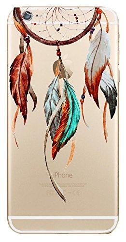"""iPhone 6 Hülle, JAMMYLIZARD Transparentes Sketch Back Cover aus Silikon mit Muster für iPhone 6 / 6s 4.7"""", KRATZENDE KATZE Traumfänger 1"""