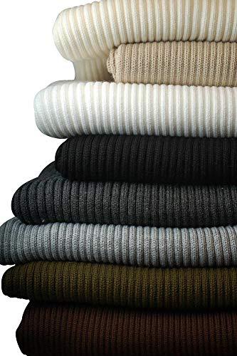 Neotrims geschoben Fat Rib, Stretch Knit Rib Borte Stoff für Kleidungsstücke, Manschetten, Gurtbänder und Rahmen. Unsere chunkiest Rippung Jersey Material für Bekleidung. Belastbar Weich natürliches Gefühl, 2x 1Gerippter Oberfläche. Erhältlich in 9Farben: schwarz, anthrazit, silber, creme, beige, weiß, braun, khaki und Marineblau. Tolles Preis, Textil, anthrazit, 0,5 m -