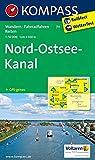 KOMPASS Wanderkarte Nord-Ostsee-Kanal: Wanderkarte mit Radtouren und Reitwegen. GPS-genau. 1:50000: Wandelkaart 1:50 000