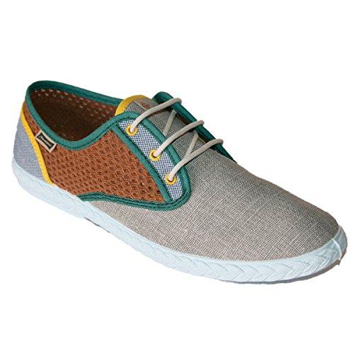 Maianas Zapato SISTO Rejilla Combinado Gris/Marrón