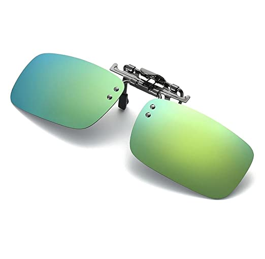 Clip lunettes de soleil amovible Elyseesen Détachable Night Vision objectif conduite polarisée à Clip lunettes lunettes de soleil (or) BCtKqJ