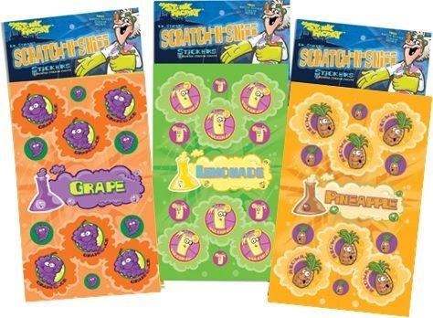 N Sniff Stickers 3-Pack- Lemonade, Grape, Pineapple 81 Stickers ()