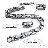 Coolman Schmuck Herren Armbänder Edelstahl-H-Link Armband 8,8 Inch - 4
