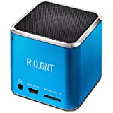 R.O.GNT 0603-40 ,Enceinte  , FM-Radio, slot carte Micro SD, Cable USB, puissance 3 Watt) pour Smartphone, Ordinateur portable,Ipod, Iphone, tablette
