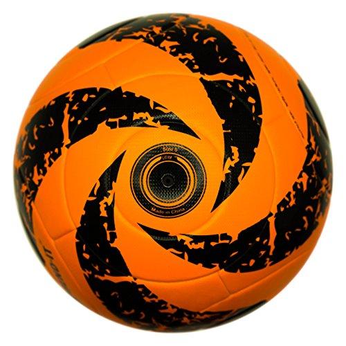 Bend-it fútbol, reverse-curl-it, Official Match Balón de fútbol, tamaño 5con VPM y VRC tecnología, naranja negro
