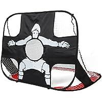 Pellor 2en 1 But de Foot Cage de Football Portable Pliable Enfant pour Parc Jardin Plage Plein de Air
