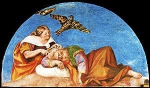 Peinture à l'huile - 24 x 14 inches / 61 x 36 CM - Sebastiano Del Piombo - Fresques des Nisus (Sc...