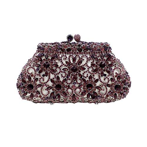 Frauen-Luxus Blumen Voller High-End-Paket Paket Abendbeutel Verpackungsbeutel C
