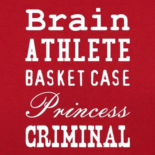 Brain Athlete Basket Case Princess Criminal - Herren T-Shirt - 13 Farben Rot
