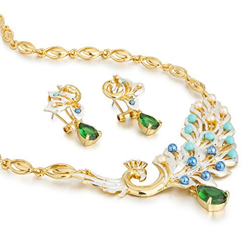 janeo-jewellery-sets-peacock-snake-swan-homme-14k-gold-vert-emeraude-or-14-ct