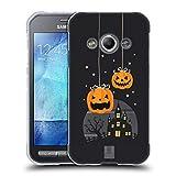 Head Case Designs Kürbise Und EIN Schloß Halloween Figuren Soft Gel Hülle für Samsung Galaxy Xcover 3