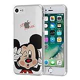 """VCOMP Shop® Clear Coque en Silicone TPU Coque avec Motif Disney Dessin animé pour téléphone Portable Apple iPhone 5/5S/SE, Silicone TPU, Mickey Mouse, Apple iPhone 7 4.7"""""""