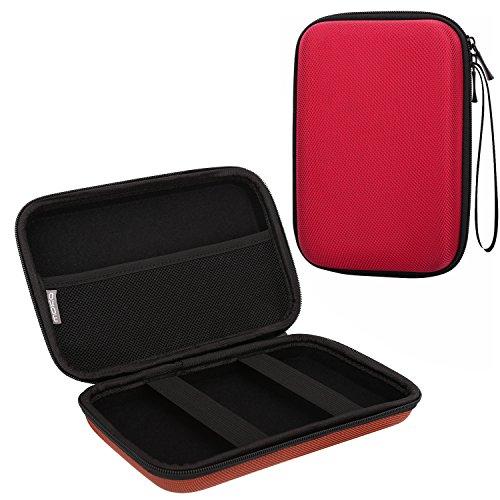 "MoKo GPS Navi Tasche Hülle, Universal 5 Zoll Hartschalenetui Case für 5\"" Navigationsgeräte Garmin Drive 50, Becker, Tomtom, Magellan mit 5\"" Bildschirm, Rot"