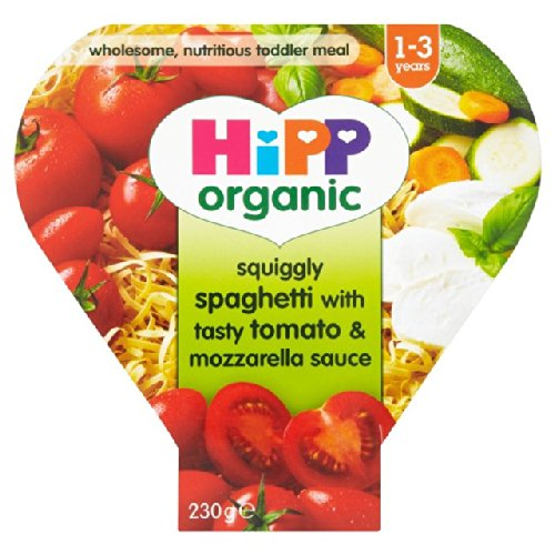 HiPP Bio-Growing Up Mahlzeiten Squiggly Spaghetti Leckere Tomaten-Mozzarella 230g