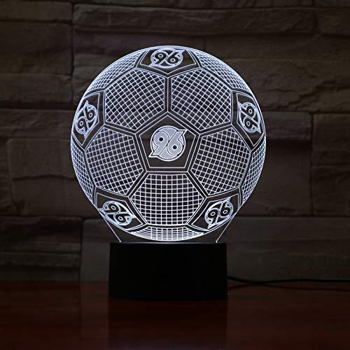 Yangll 3D Led Optical Illusion Lamp Miami Dolphins Football Helmet Night Lights Led Creative Gadget Kida Kiddie Gift