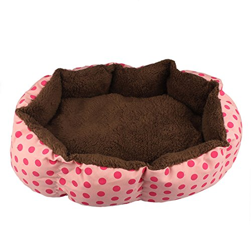 Cuccia per cane, Culater Cane Morbida Lana Cucciolo Caldo Letto Accogliente Casa Soffice Gatto Nido Mat Pad (Pink)