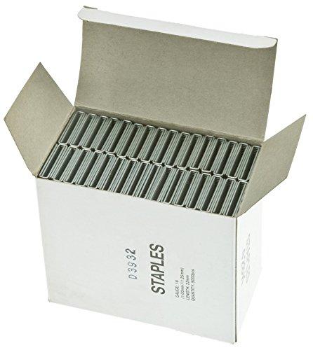 """Steelex D3932 18 g 1 1/8 """"x 1/4"""", boîte de 5000 agrafes à couronne"""