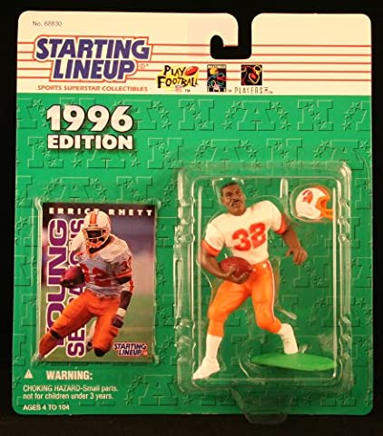 ERRICT RHETT / TAMPA BAY BUCCANEERS 1996 NFL Starting Lineup Action Figure & Exclusive NFL Collector Trading Card