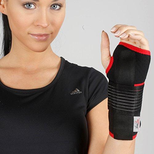 Handgelenkbandage aus Neopren - Karpaltunnel-Handbandage zur Unterstützung bei Verstauchungen, Arthritis, Schmerzen, Daumen, atmungsaktiv (Arthritis Daumen-unterstützung)