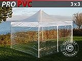Dancover Tente Pliante Chapiteau Pliable Tonnelle Pliante Barnum Pliant FleXtents Pro 3x3m Transparent, avec 4 Cotãs