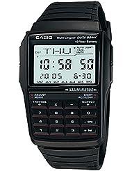 Casio DBC-32-1AES - Reloj digital de caballero de cuarzo con correa de resina negra (cronómetro, alarma, luz)