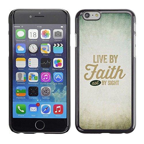 Planetar® ( Lebe im Glauben Gottes christliche Gott Himmel Christus ) Apple (4.7 inches!!!) iPhone 6 / 6S Handyhülle Schale Hart Silikon Hülle Schutzhülle Case