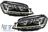 KITT hlvwg7r400ledrhd Scheinwerfer 3D LED DRL 2012-2017 Gelb R400 Look LED Drehen Licht für Rechtslenker Cars