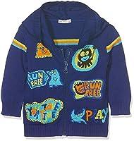 United Colors of Benetton Baby Boys 0-24m Jacket Wforwardslashhood L/S Hoodie, Blue, 0-3 Months (Manufacturer Size:56)