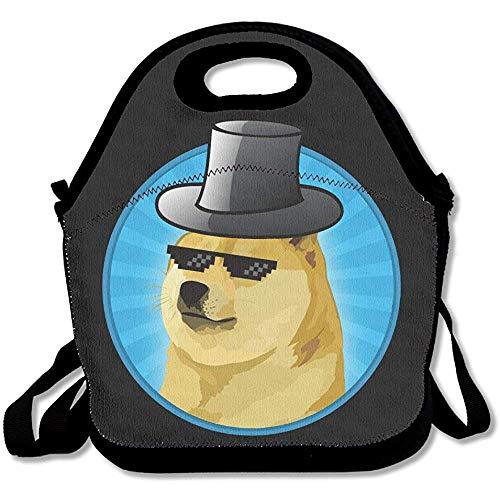 Gourmet Tote Single Dog Brille Hat Lunch Bags Lunch Tote Handtasche für Kinder und Erwachsene by Duang -