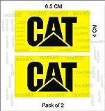 #7: Isee360 Cat Logo Water Resistance Die Cut Sticker For Handle Bar Disc Box, Bike Chaise, Visor, Mudguard, Car -Lap,Pack Of 2