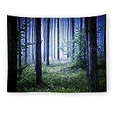 Daeou Tapisserie DécorationImpression de forêt Suspendue Tissu Tissu décoratif Dimensions: 1.5 * 2m